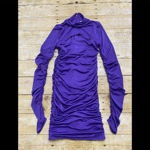 NWOT Oh Polly ruched Long sleeve dress